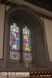 Milton Ernest - All Saints. Chancel, north-east window internal.