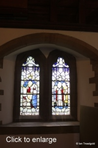 Moggerhanger - St John. South aisle, western window internal.