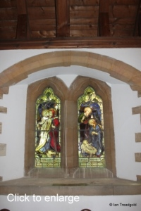 Moggerhanger - St John. South aisle, central window internal.