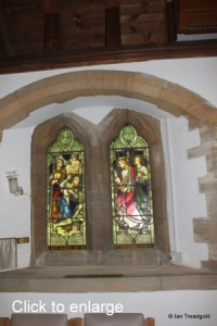 Moggerhanger - St John. South aisle, eastern window internal.