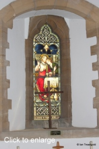 Moggerhanger - St John. South aisle, east window internal.