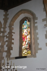 Moggerhanger - St John. Chancel windows internal.