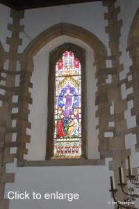 Moggerhanger - St John. Chancel windows internal.