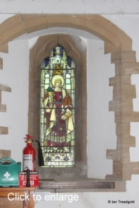 Moggerhanger - St John. North aisle, west window internal.