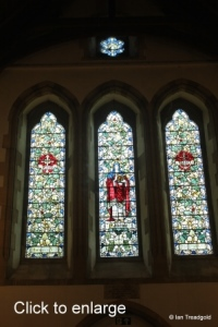 Moggerhanger - St John. South aisle, west window internal.