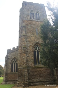 Northill - St Mary the Virgin. Tower from the west.