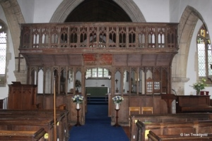Oakley - St Mary. Rood screen.