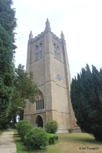 Odell - All Saints. Tower from the south-west.