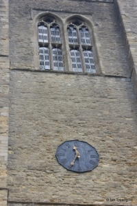 Odell - All Saints. Tower, belfry lights and clock.