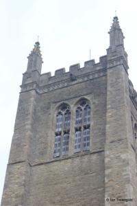 Odell - All Saints. Tower belfry lights.
