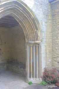 Pavenham - St Peter. South porch outer doorway.