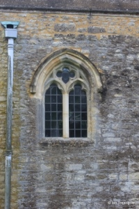 Pavenham - St Peter. North aisle, western window.