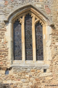 Old Warden - St Leonard. South aisle, east window.