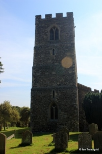 Old Warden - St Leonard. Tower from the west.