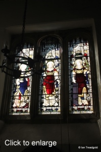 Old Warden - St Leonard. South aisle, south window internal.