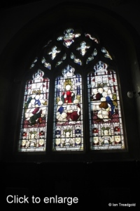 Old Warden - St Leonard. Chancel, south-eastern window internal.