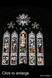 Old Warden - St Leonard. East window internal.