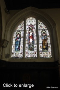 Old Warden - St Leonard. Chancel north window internal