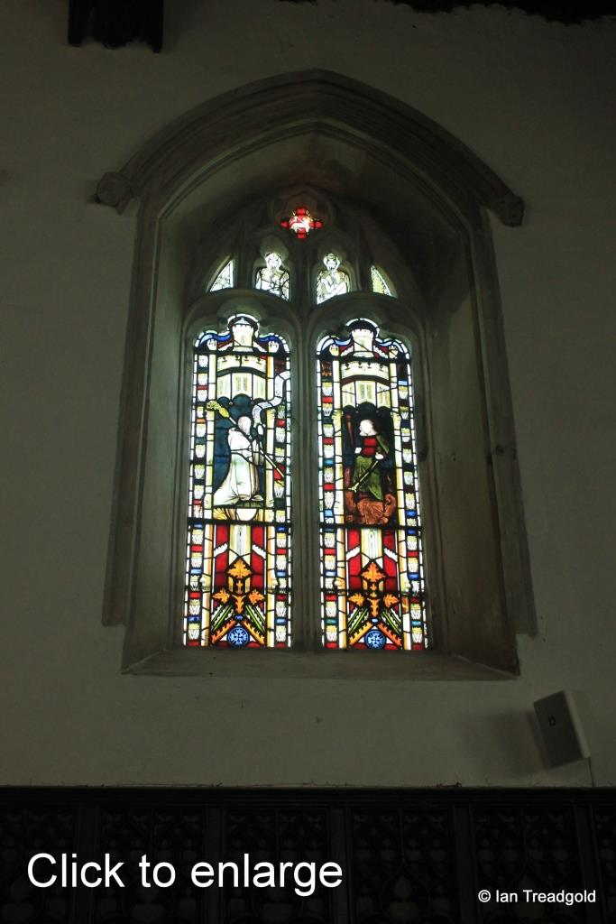 Old Warden - St Leonard. North-east window internal.