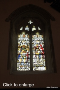 Old Warden - St Leonard. North-west window internal.