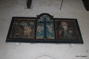 Potsgrove - St Mary. Victorian reredos painting.
