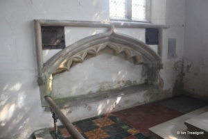 Potsgrove - St Mary. Chancel, tomb recess.