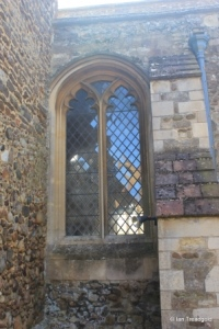 Potton - St Mary. North aisle, central window.