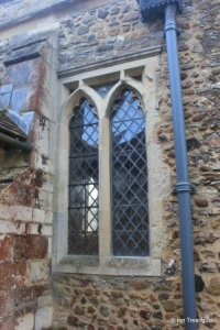 Renhold - All Saints. North aisle, western window.