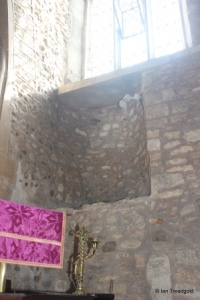 Renhold - All Saints. Rood stair remains.
