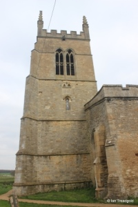 Riseley - All Saints. West tower from the south.