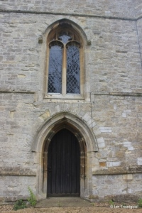 Riseley - All Saints. West door and window.