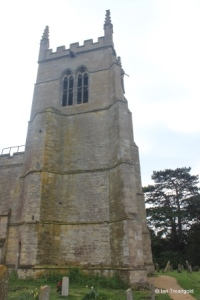 Riseley - All Saints. West tower from the north.