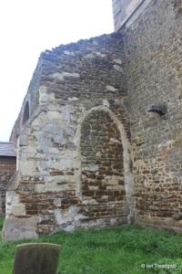 Old Ridgmont - All Saints. North aisle, blocked west window.