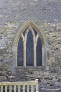 Salford - St Mary. North side, western window.