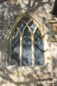 Salford - St Mary. South aisle, east window.