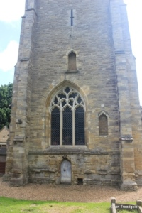 Sharnbrook - St Peter. West tower. west window.