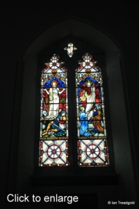 Sharnbrook - St Peter. Chancel, western window internal.