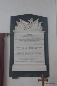 Sharnbrook - St Peter. Chancel monument.