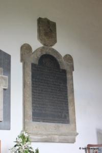 Sharnbrook - St Peter. Chancel monument.