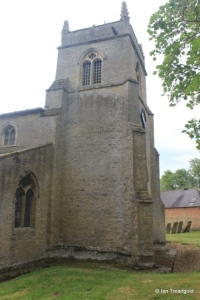 Shelton - St Mary. West tower from the north.