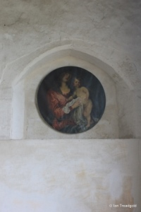 Shelton - St Mary. South aisle, east end painting.