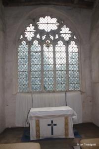 Shelton - St Mary. Chancel, east window internal.