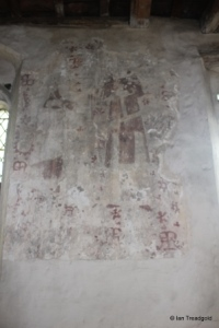 Shelton - St Mary. Medieval wall painting.