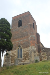 Shillington - All Saints. Tower from the south-west.