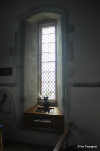 Shillington - All Saints. South chapel, eastern window internal.