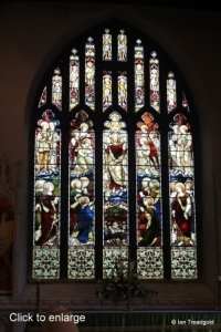 St Andrew parish church, Ampthill. East window internal.