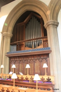 St Andrew parish church, Ampthill. Organ.