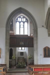St Andrew parish church, Ampthill. Font.