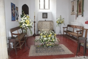 St Andrew parish church, Ampthill. West end internal.
