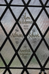 St Andrew parish church, Ampthill. Stained glass.